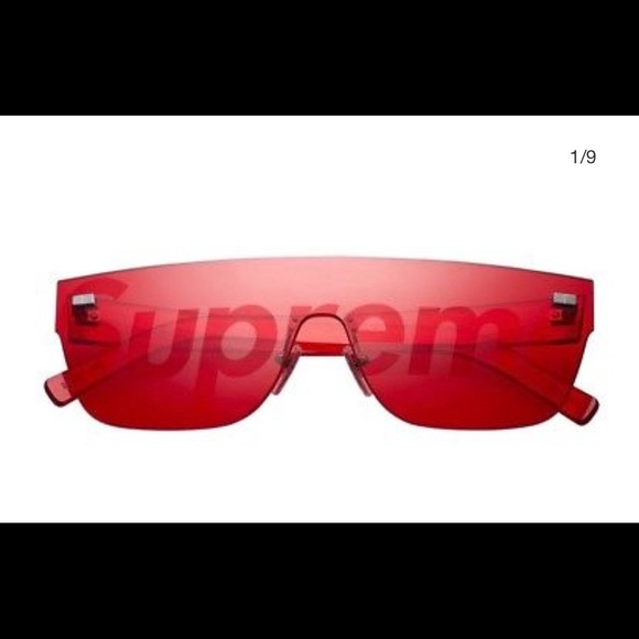 156b33f6d53bb ... Supreme x Louis Vuitton Red Tinted Sunglasses
